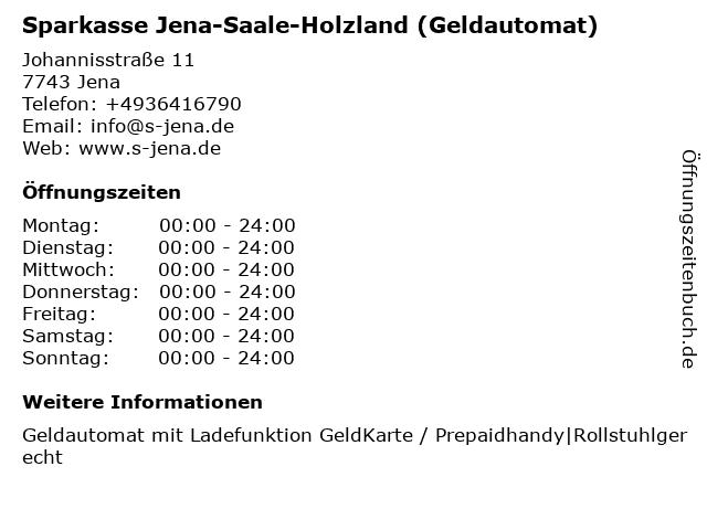 Sparkasse Jena-Saale-Holzland - (Geldautomat ImmobilienCenter) in Jena: Adresse und Öffnungszeiten
