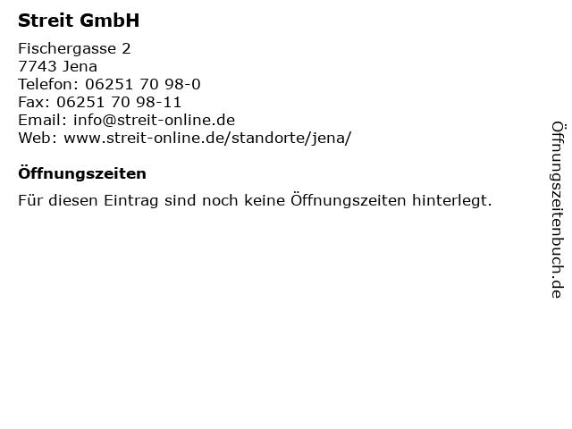Streit GmbH in Jena: Adresse und Öffnungszeiten