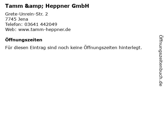 Tamm & Heppner GmbH in Jena: Adresse und Öffnungszeiten