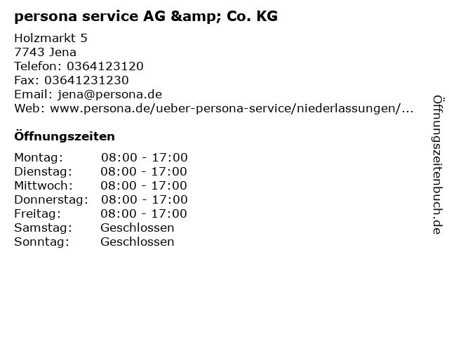 persona service AG & Co. KG in Jena: Adresse und Öffnungszeiten