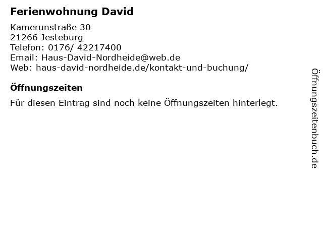 Ferienwohnung David in Jesteburg: Adresse und Öffnungszeiten