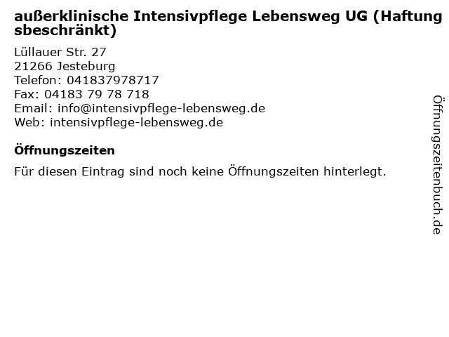 Intensivpflege Lebensweg in Jesteburg: Adresse und Öffnungszeiten