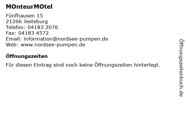 MOnteurMOtel in Jesteburg: Adresse und Öffnungszeiten