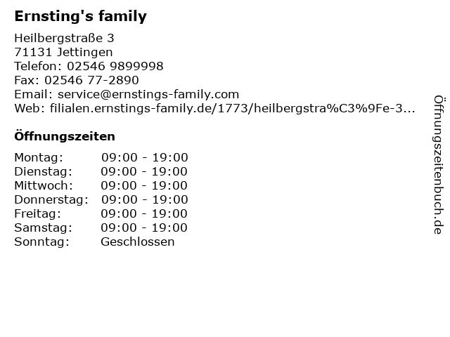 Ernsting's family in Jettingen: Adresse und Öffnungszeiten