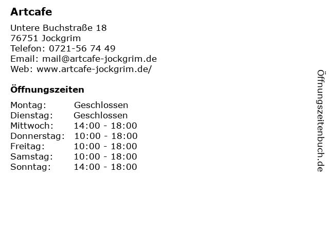 Artcafe in Jockgrim: Adresse und Öffnungszeiten