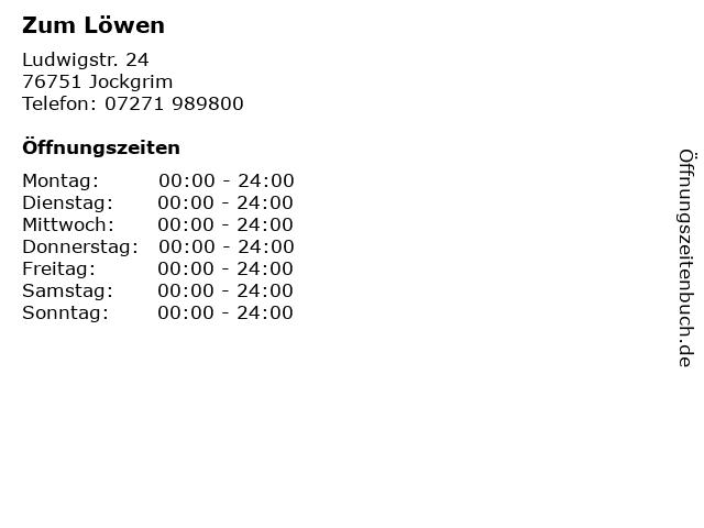Zum Löwen in Jockgrim: Adresse und Öffnungszeiten
