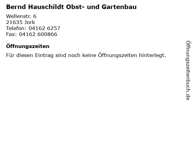 Bernd Hauschildt Obst- und Gartenbau in Jork: Adresse und Öffnungszeiten