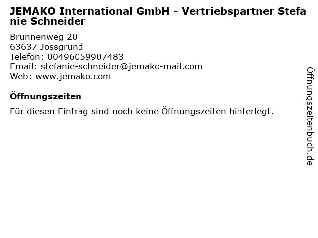 JEMAKO International GmbH - Vertriebspartner Stefanie Schneider in Jossgrund: Adresse und Öffnungszeiten