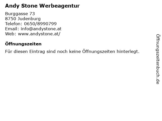 Andy Stone Werbeagentur in Judenburg: Adresse und Öffnungszeiten