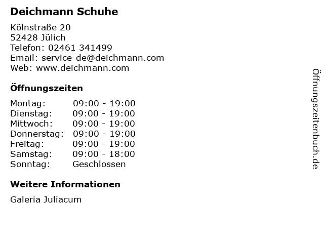 Deichmann Schuhe in Jülich: Adresse und Öffnungszeiten