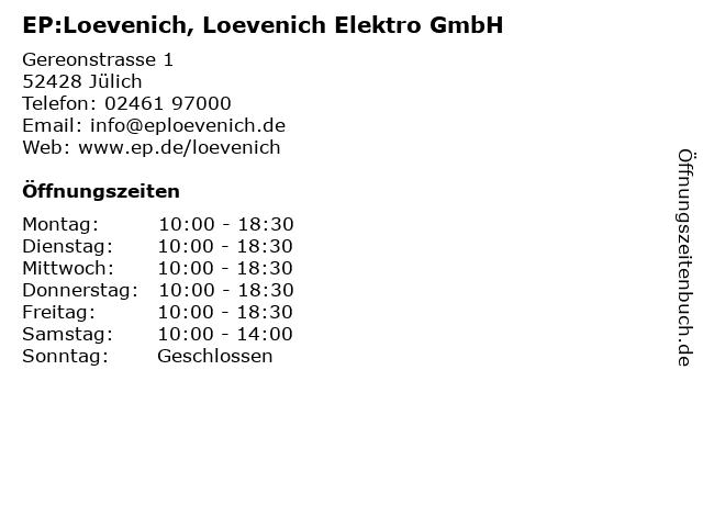 Electronic Partner - EP:Loevenich in Jülich: Adresse und Öffnungszeiten
