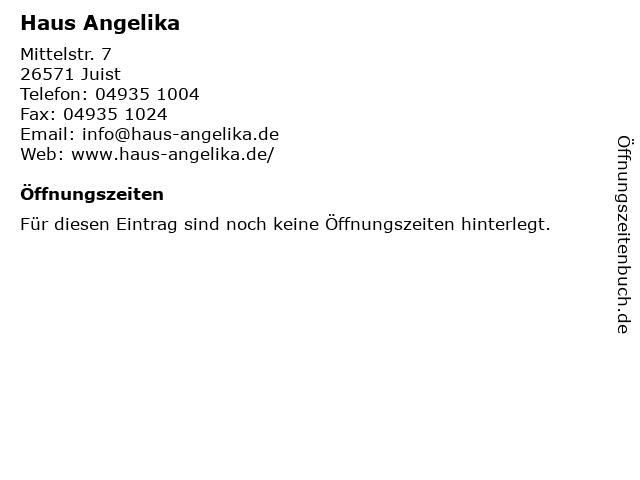 Haus Angelika in Juist: Adresse und Öffnungszeiten