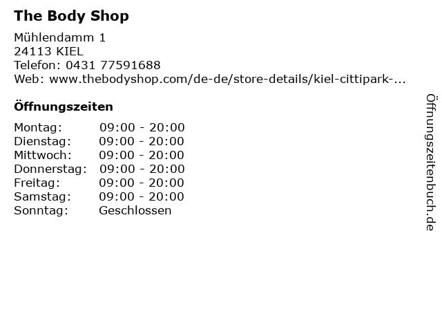 The Body Shop Germany GmbH in Kiel: Adresse und Öffnungszeiten