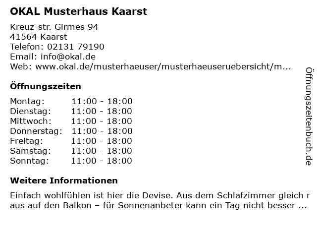 "ᐅ Öffnungszeiten ""Okal Haus GmbH (Musterhaus)"" | Girmes Kreuz-Str ..."