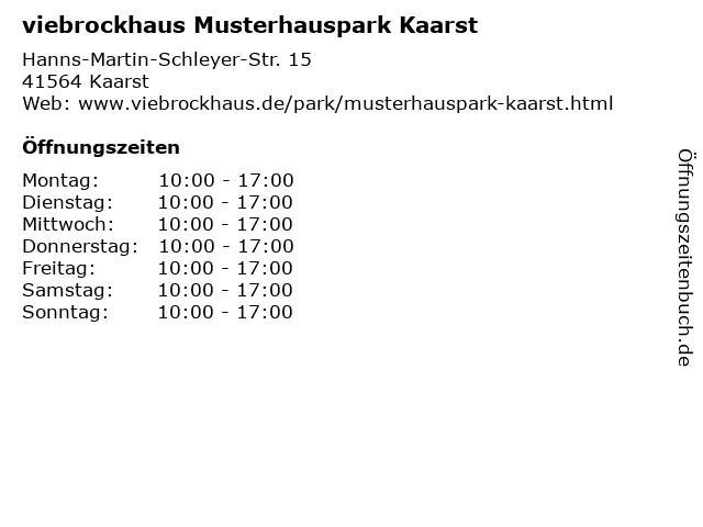 ᐅ öffnungszeiten Viebrockhaus Musterhauspark Kaarst Hanns