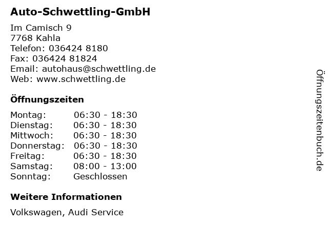 Auto-Schwettling-GmbH in Kahla: Adresse und Öffnungszeiten