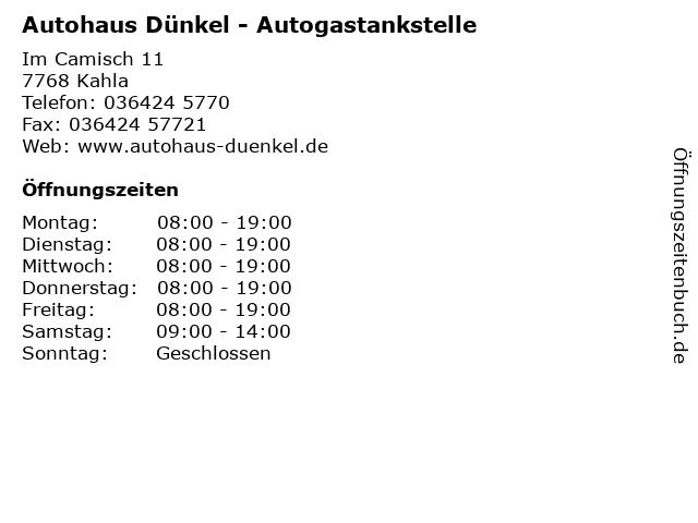 Autohaus Dünkel - Autogastankstelle in Kahla: Adresse und Öffnungszeiten