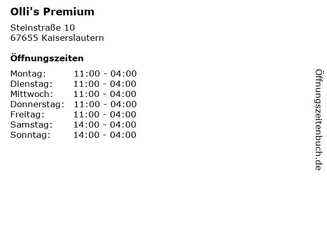 Olli's Premium in Kaiserslautern: Adresse und Öffnungszeiten