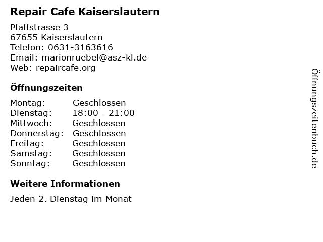 Reparatur cafe neustadt weinstraße
