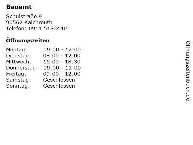 Bauamt in Kalchreuth: Adresse und Öffnungszeiten