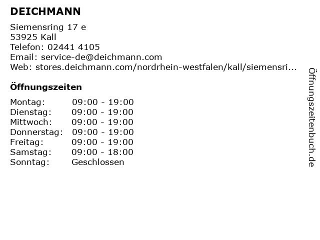 Deichmann Schuhe in Kall: Adresse und Öffnungszeiten