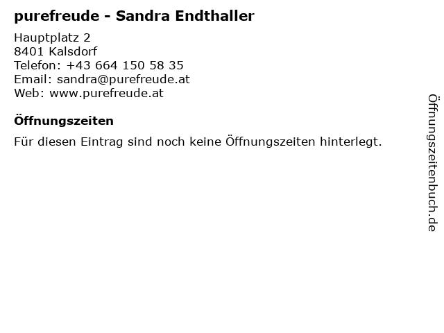 purefreude - Sandra Endthaller in Kalsdorf: Adresse und Öffnungszeiten