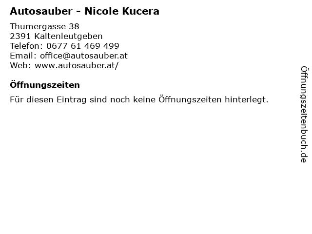 Autosauber - Nicole Kucera in Kaltenleutgeben: Adresse und Öffnungszeiten