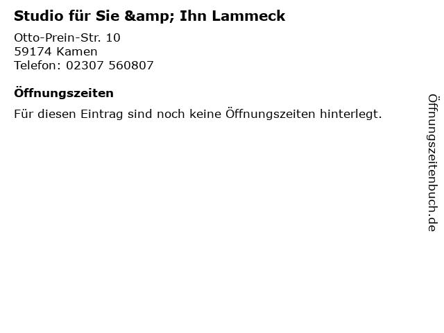 Studio für Sie & Ihn Lammeck in Kamen: Adresse und Öffnungszeiten