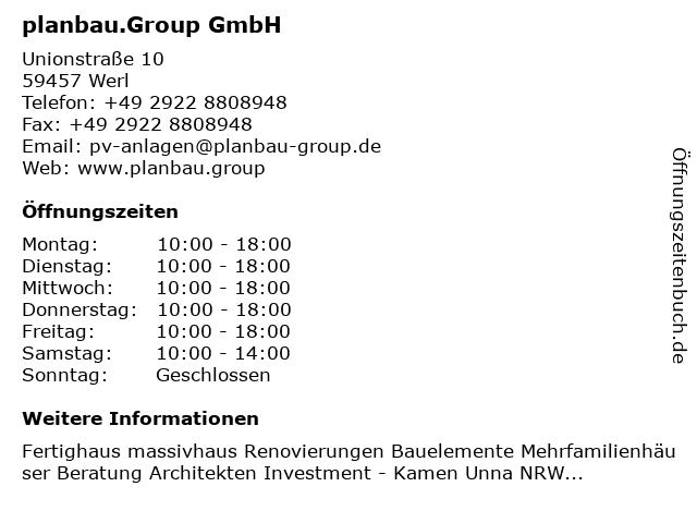 planbau.Group GmbH in Kamen: Adresse und Öffnungszeiten