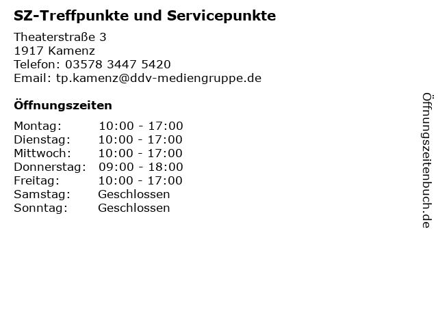SZ-Treffpunkte und Servicepunkte in Kamenz: Adresse und Öffnungszeiten