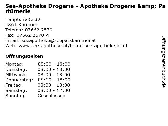See-Apotheke Drogerie - Apotheke Drogerie & Parfümerie in Kammer: Adresse und Öffnungszeiten