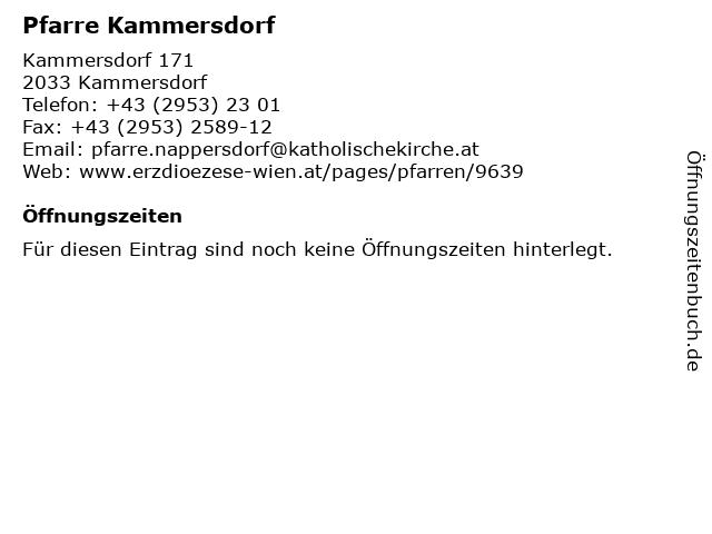 Pfarre Kammersdorf in Kammersdorf: Adresse und Öffnungszeiten