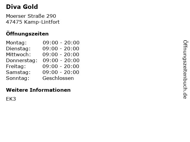 Diva Gold in Kamp-Lintfort: Adresse und Öffnungszeiten