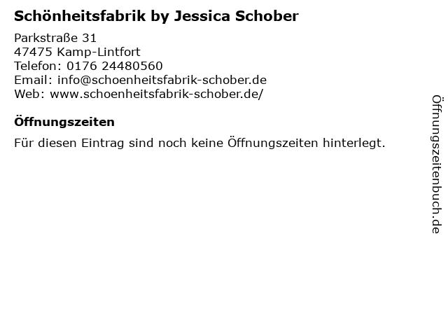 Schönheitsfabrik by Jessica Schober in Kamp-Lintfort: Adresse und Öffnungszeiten