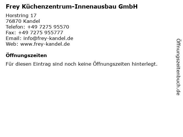 ᐅ Offnungszeiten Frey Kuchenzentrum Innenausbau Gmbh Horstring