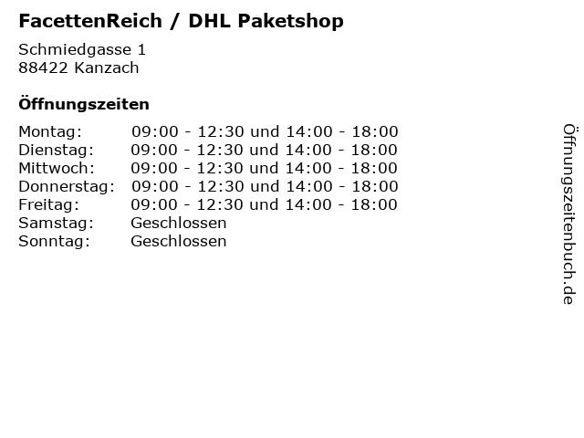 FacettenReich / DHL Paketshop in Kanzach: Adresse und Öffnungszeiten