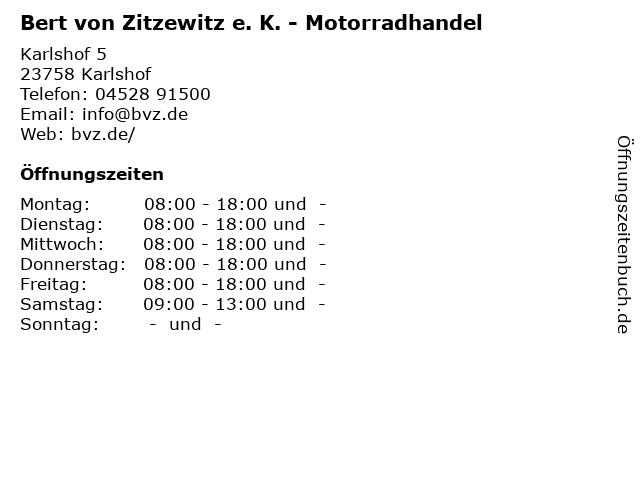 Bert von Zitzewitz e. K. - Motorradhandel in Karlshof: Adresse und Öffnungszeiten