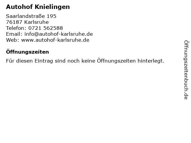 Autohof Knielingen in Karlsruhe: Adresse und Öffnungszeiten
