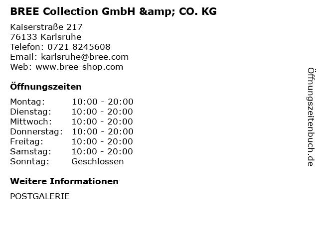 BREE Collection GmbH & CO. KG in Karlsruhe: Adresse und Öffnungszeiten