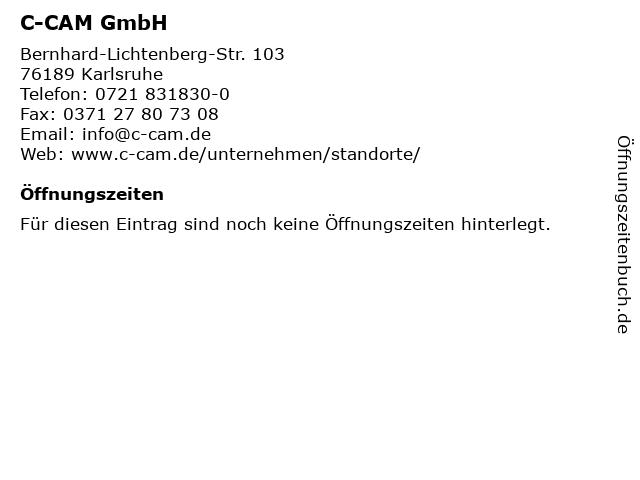 C-CAM GmbH in Karlsruhe: Adresse und Öffnungszeiten