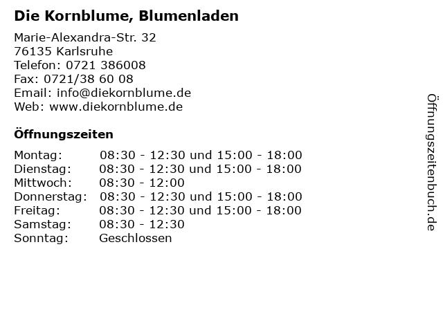 Die Kornblume, Blumenladen in Karlsruhe: Adresse und Öffnungszeiten