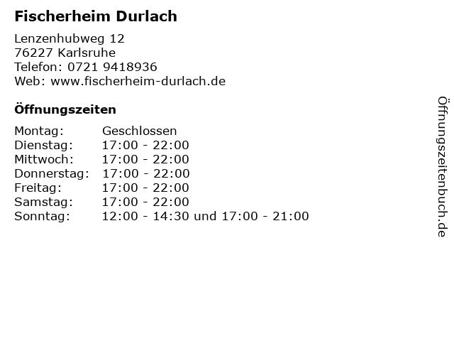 Fischerheim Durlach in Karlsruhe: Adresse und Öffnungszeiten