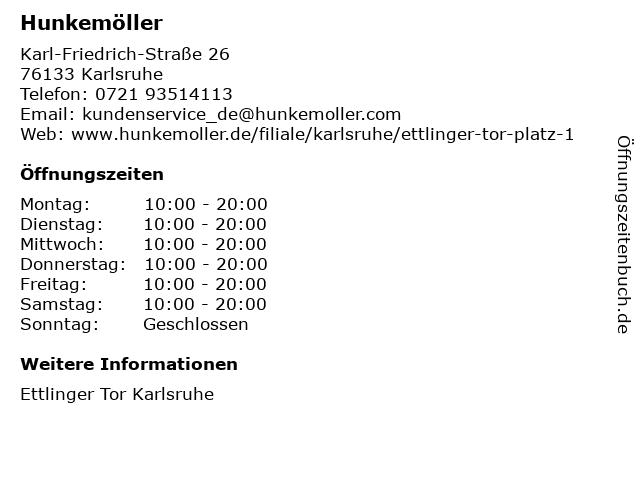 Hunkemöller Deutschland B.V. & Co. KG in Karlsruhe: Adresse und Öffnungszeiten