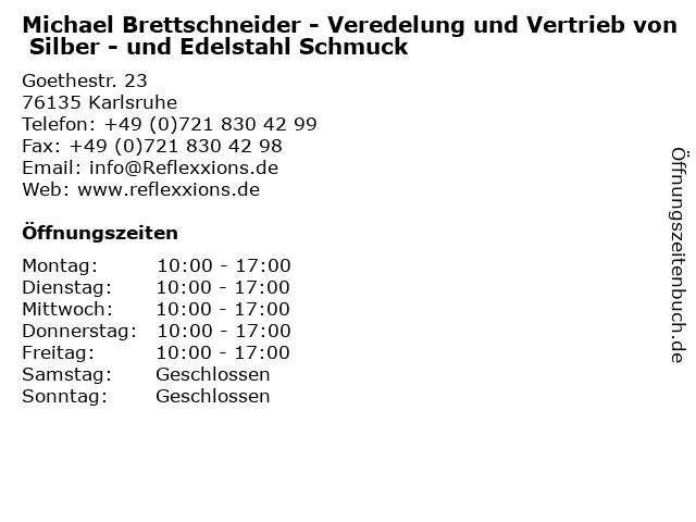 Michael Brettschneider in Karlsruhe: Adresse und Öffnungszeiten
