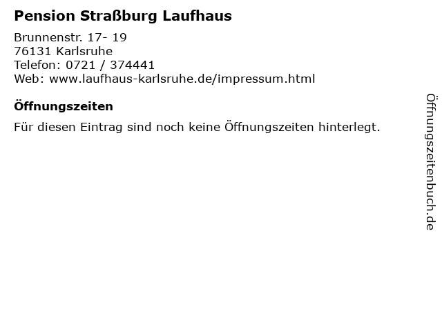 Pension Straßburg Laufhaus in Karlsruhe: Adresse und Öffnungszeiten