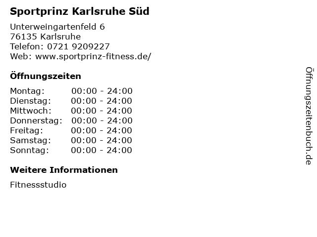 Sportprinz Karlsruhe Süd in Karlsruhe: Adresse und Öffnungszeiten