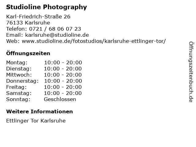 ᐅ Offnungszeiten Studioline Photography Karl Friedrich Strasse