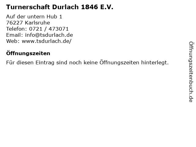 Turnerschaft Durlach 1846 E.V. in Karlsruhe: Adresse und Öffnungszeiten
