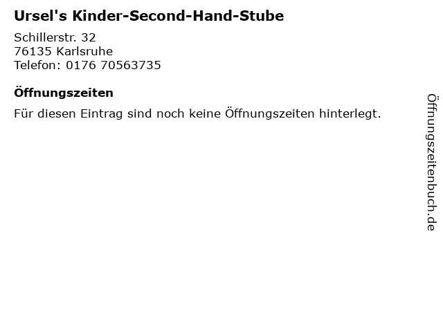 Ursel's Kinder-Second-Hand-Stube in Karlsruhe: Adresse und Öffnungszeiten