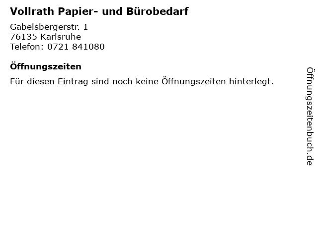ᐅ öffnungszeiten Vollrath Papier Und Bürobedarf